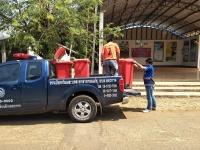 เก็บขยะอันตรายตามจุดคัดแยกประจำหมู่บ้าน ประจำเดือนมีนาคม 2563
